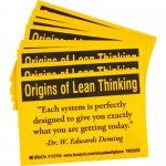Brady 110746, Origins Of Lean Thinking Each… Label