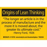 Brady 110749, Origins of Lean Thinking The Longer… Label