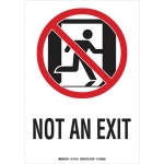 Brady 115142, 10″ x 7′ Polyester Not An Exit Sign