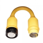 Marinco 118A, Pigtail Adapter, 50A 125/250V Locking Female Connector