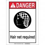 Brady 119430, Danger Hair Net Required Sign
