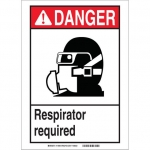 Brady 119466, Danger Respirator Required Sign