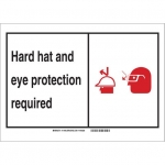 Brady 119495, Personal Protection Sign, Black/Red/White