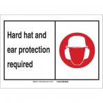 Brady 119508, Personal Protection Sign, Black/Red/White
