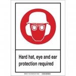 Brady 119521, Personal Protection Sign, Black/Red/White