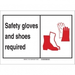 Brady 119534, Personal Protection Sign, Black/Red/White