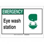 Brady 119756, Eye Wash Station Sign, Black/Green/White