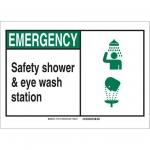 Brady 119776, Safety Shower & Eye Wash Station Sign