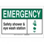 Brady 119777, Safety Shower & Eye Wash Station Sign