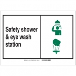 Brady 119782, 10″ x 14″ Aluminum First Aid Sign, Black/Green/White