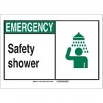 Brady 119856, Polystyrene Emergency Safety Shower Sign