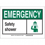 Brady 119857, Polystyrene Emergency Safety Shower Sign