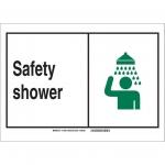 Brady 119858, Safety Shower Sign, Black/Green/White