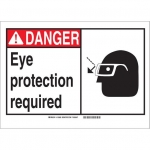 Brady 119882, Protection Required Sign, Black/Red/White