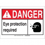 Brady 119883, Protection Required Sign, Black/Red/White
