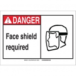 Brady 119934, Danger Face Shield Required Sign