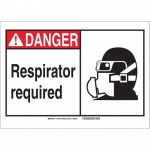 Brady 119942, Polyester Danger Respirator Required Sign