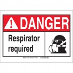 Brady 119943, Polyester Danger Respirator Required Sign