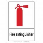 Brady 119959, Fire Extinguisher Sign, Black/Red/White