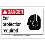 Brady 119966, Protection Required Sign, Black/Red/White