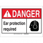 Brady 119967, Protection Required Sign, Black/Red/White