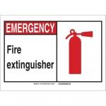 Brady 119970, Fire Extinguisher Sign, Black/Red/White
