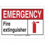 Brady 119971, Fire Extinguisher Sign, Black/Red/White