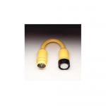 Marinco 123A, Pigtail Adapter, 50A 125V Locking Female Connector