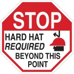 Brady 124539, Hard Hat Required Beyond This Point Sign