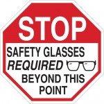 Brady 124543, Glasses Required Beyond This Point Sign