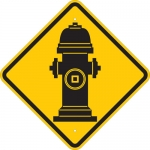 Brady 124607, 18″ x 18″ Aluminum Fire Hydrant Picto Sign