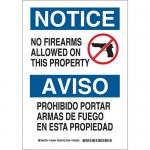 Brady 125046, Notice No Firearms Allowed On… Sign