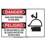 Brady 125107, Bilingual Danger Hard Hat Required… Sign
