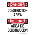Brady 125161, Bilingual Danger Construction Area Sign