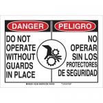Brady 125191, 10″ x 14″ B-401 Bilingual Danger Do Not Operate… Sign