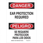 Brady 125196, Danger Ear Protection Required Sign