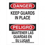 Brady 125250, Bilingual Danger Keep Guards In Place Sign