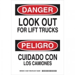 Brady 125265, Bilingual Danger Look Out for… Sign