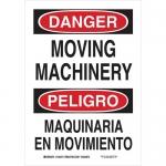 Brady 125274, Bilingual Danger Moving Machinery Sign