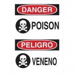 Brady 125305, 14″ x 10″ Polystyrene Bilingual Danger Poison Sign