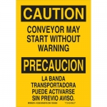 Brady 125361, Conveyor May Start with out Warning Sign