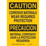 Brady 125371, Materials Wear Required Protection Sign