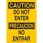 Brady 125373, 10″ x 7″ Aluminum Bilingual Caution Do Not Enter Sign