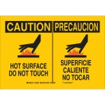 Brady 125385, Caution Hot Surface Do Not Touch Sign