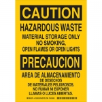 Brady 125391, Waste Material Storage Only… Sign