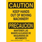 Brady 125403, Keep Hands Out Of Moving Machinery Sign