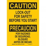 Brady 125409, Lock-Out Forsafety Before You Start Sign