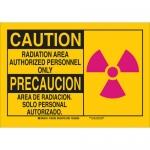 Brady 125427, Caution Radiation Area Authorized… Sign