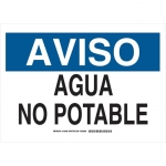 Brady 125497, 10″ x 14″ Polystyrene Aviso Agua No Potable Sign