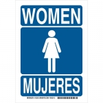Brady 125511, 10″ x 7″ Aluminum Bilingual Women Sign